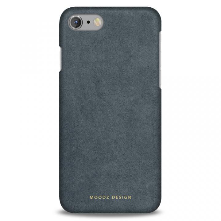 【iPhone7ケース】スエード調人造皮革アルカンターラケース Moodz Design グレイ iPhone 7_0