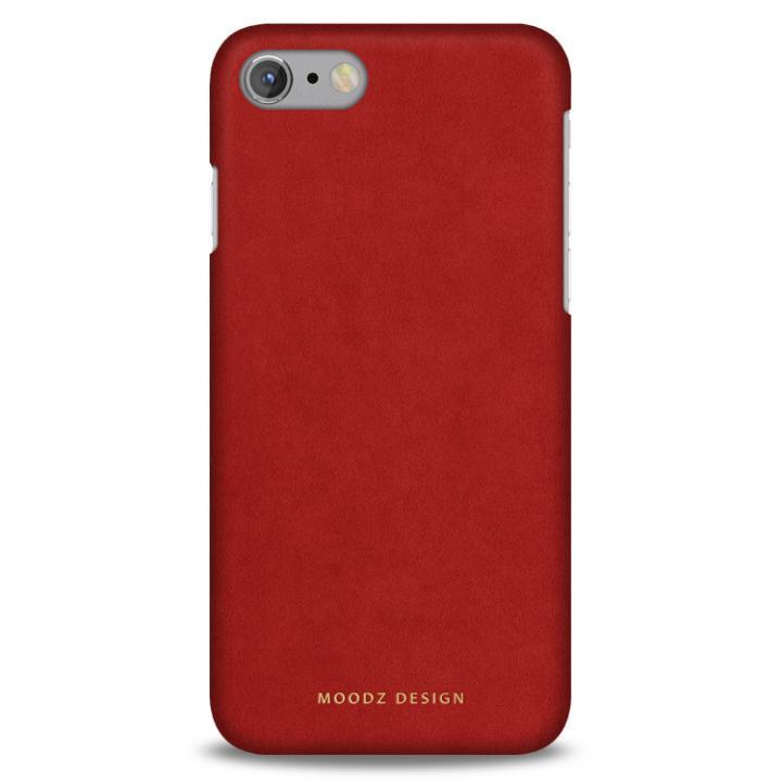 スエード調人造皮革アルカンターラケース Moodz Design レッド iPhone 7