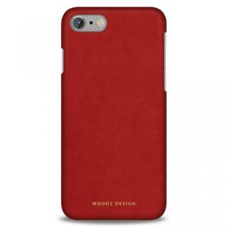[2018新生活応援特価]スエード調人造皮革アルカンターラケース Moodz Design レッド iPhone 7