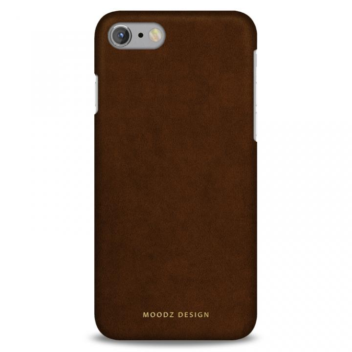 【iPhone7ケース】スエード調人造皮革アルカンターラケース Moodz Design ウッド iPhone 7_0
