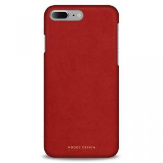 iPhone7 Plus ケース スエード調人造皮革アルカンターラケース Moodz Design レッド iPhone 7 Plus