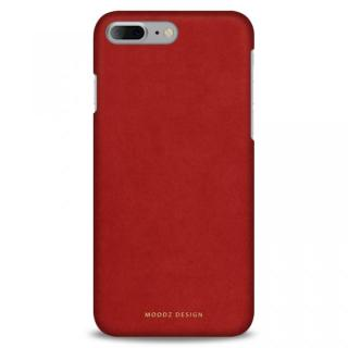 スエード調人造皮革アルカンターラケース Moodz Design レッド iPhone 7 Plus