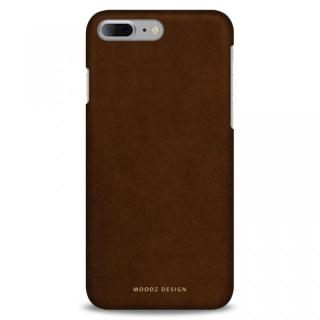 スエード調人造皮革アルカンターラケース Moodz Design ウッド iPhone 7 Plus