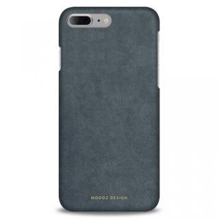 iPhone7 Plus ケース スエード調人造皮革アルカンターラケース Moodz Design グレイ iPhone 7 Plus