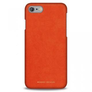【iPhone7 ケース】スエード調人造皮革アルカンターラケース Moodz Design オレンジ iPhone 7