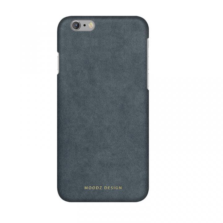 スエード調人造皮革アルカンターラケース Moodz Design グレイ iPhone 6s/6