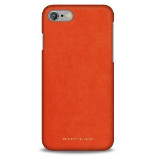 iPhone7 Plus ケース スエード調人造皮革アルカンターラケース Moodz Design オレンジ iPhone 7 Plus