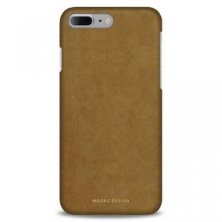 スエード調人造皮革アルカンターラケース Moodz Design キャメル iPhone 7 Plus