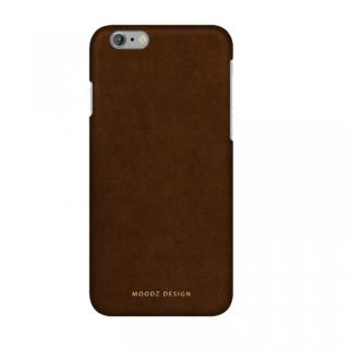 【iPhone6 ケース】スエード調人造皮革アルカンターラケース Moodz Design ウッド iPhone 6s/6