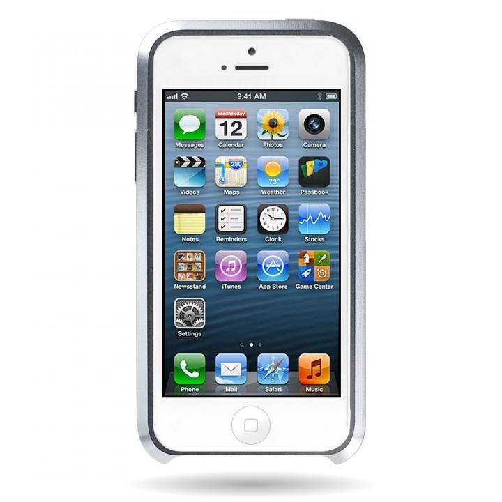 iPhone SE/5s/5 ケース Mindplar ELITE  iPhone SE/5s/5 シルバー_0