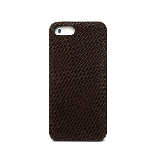 iPhone SE/5s/5 Prestige Pixel Leather Bar ダークブラウン