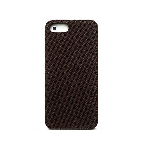 iPhone SE/5s/5 Prestige Pixel Leather Bar ダークブラウン