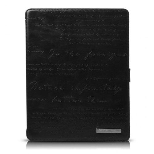 iPad3ケース Masstige Lettering diary ブラック