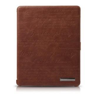iPad3ケース Masstige Lettering diary ブラウン