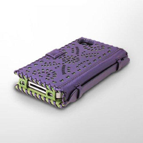 iPhone 4/4s Prestige Punching Diary Series  DEEP PURPLE