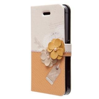 【iPhone SE/5s/5ケース】iPhone SE/5s/5 手帳型ケース Memories of Paris Diary マスタード_2