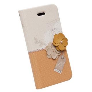 【iPhone SE/5s/5ケース】iPhone SE/5s/5 手帳型ケース Memories of Paris Diary マスタード_5