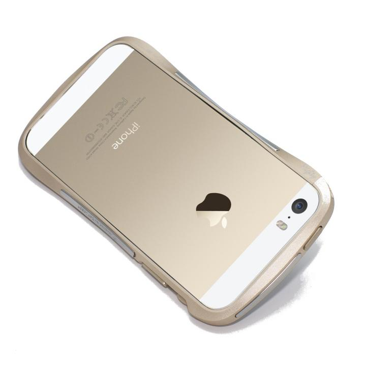 iPhone SE/5s/5 ケース CLEAVE ALUMINUM BUMPER Mighty  ゴールド iPhone SE/5s/5_0