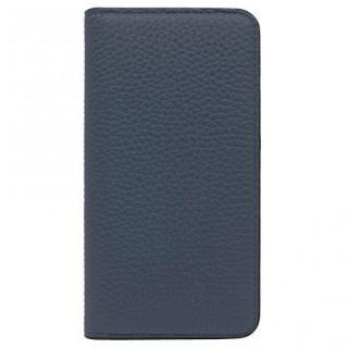 LORNA PASSONI レザー手帳型ケース ネイビー iPhone X