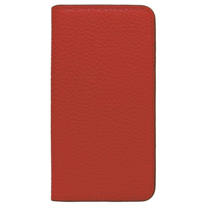 【iPhone Xケース】LORNA PASSONI レザー手帳型ケース レッド iPhone X_0