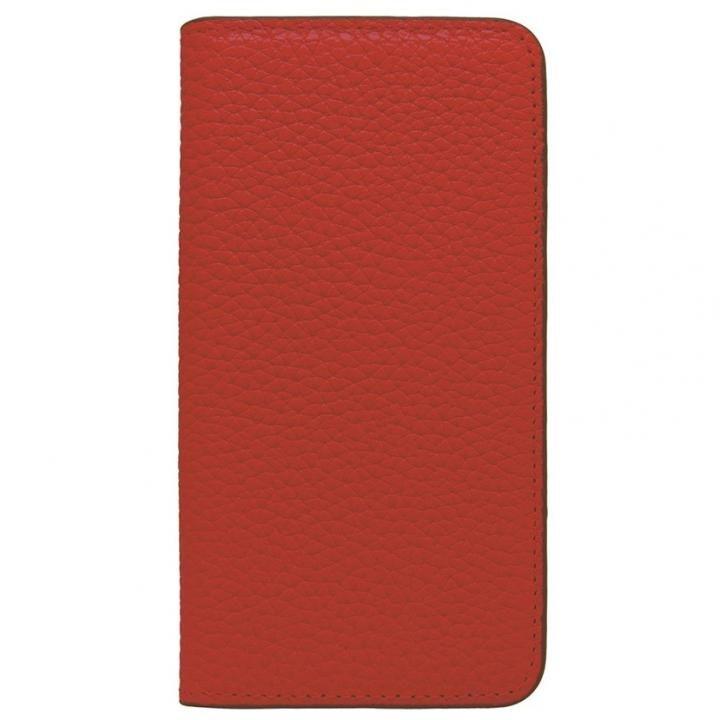 LORNA PASSONI レザー手帳型ケース レッド iPhone X
