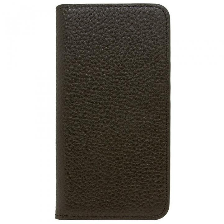 LORNA PASSONI レザー手帳型ケース ブラック iPhone 8 Plus/7 Plus