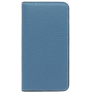 LORNA PASSONI レザー手帳型ケース ブルー iPhone X