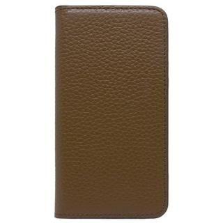 【iPhone X ケース】LORNA PASSONI レザー手帳型ケース ブラウン iPhone X