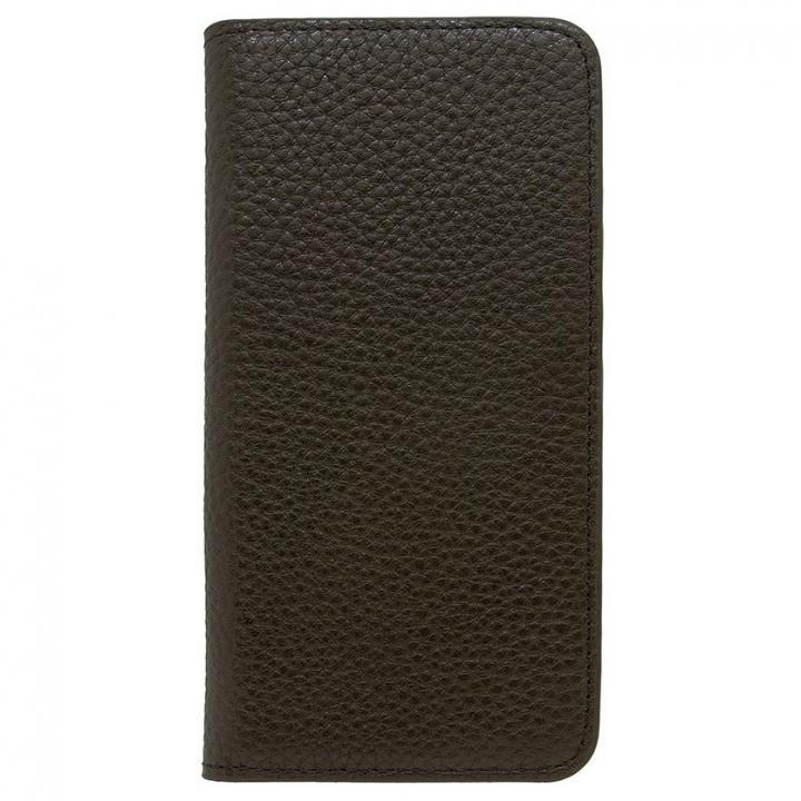 iPhone8/7 ケース LORNA PASSONI レザー手帳型ケース ブラック iPhone 8/7_0
