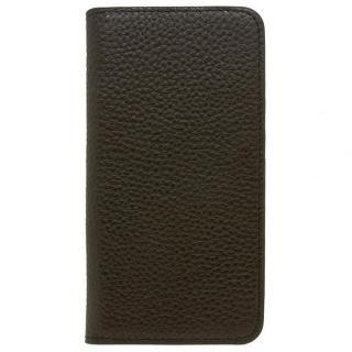 【iPhone X ケース】LORNA PASSONI レザー手帳型ケース ブラック iPhone X【10月上旬】