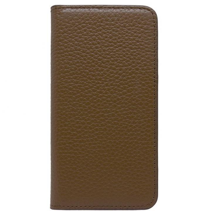 iPhone8/7 ケース LORNA PASSONI レザー手帳型ケース ブラウン iPhone 8/7_0