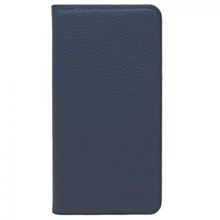 LORNA PASSONI レザー手帳型ケース ネイビー iPhone 8 Plus/7 Plus