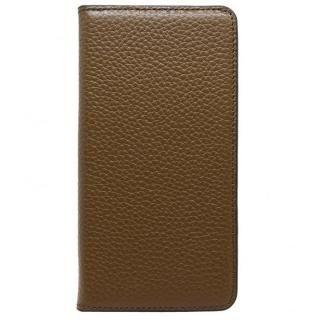 LORNA PASSONI レザー手帳型ケース ブラウン iPhone 8 Plus/7 Plus