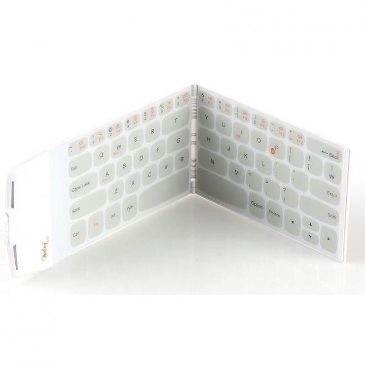 スマホよりも薄くて軽い 世界最薄、最軽量ポケットサイズのキーボード Wekey ホワイト_0