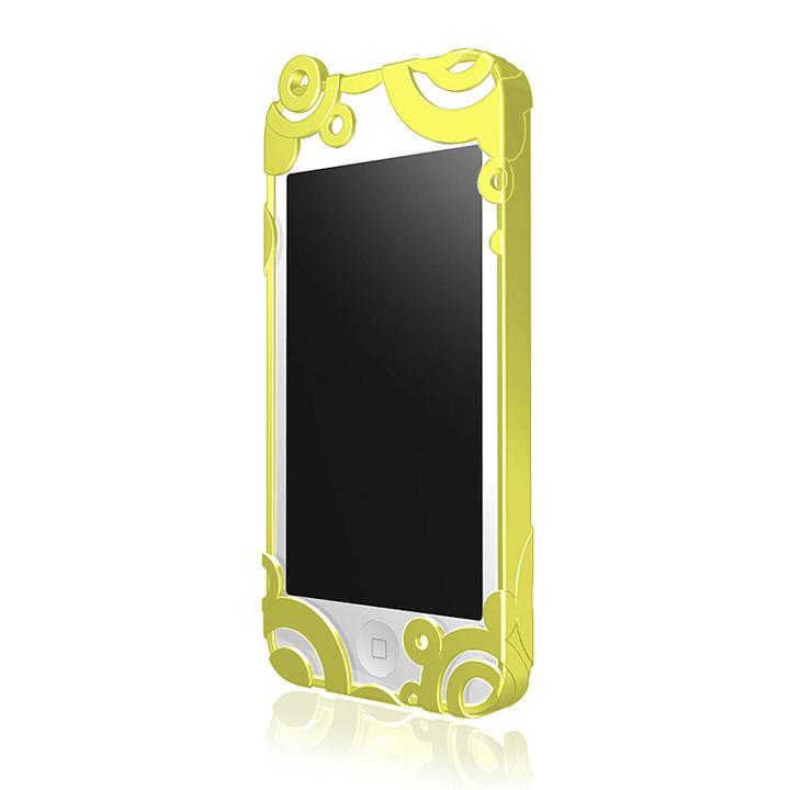iPhone SE/5s/5 ケース iPhone5 RIPPLE ハードケース レモンイエロー_0