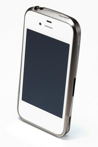 【iPhone4/4s】GRAMAS メタルバンパー 02シリーズ(グレイ)