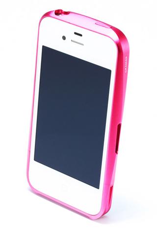 【iPhone4/4s】GRAMAS メタルバンパー 02シリーズ(ピンク)