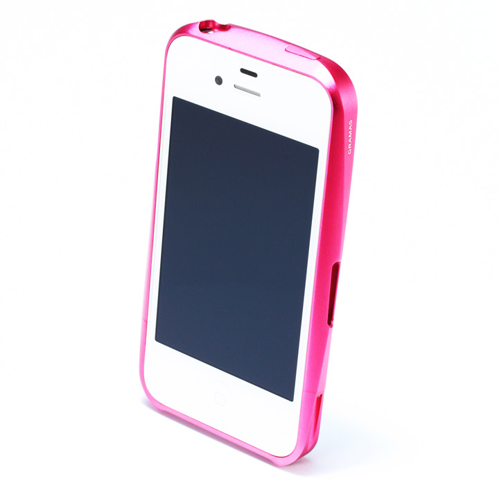【iPhone4/4s】GRAMAS メタルバンパー 02シリーズ(ピンク)_0