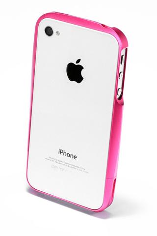 【iPhone4/4s】GRAMAS メタルバンパー 02シリーズ(ピンク)_1