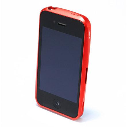 【iPhone4/4s】GRAMAS メタルバンパー 02シリーズ(レッド)