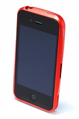 その他のiPhone/iPod ケース 【iPhone4/4s】GRAMAS メタルバンパー 02シリーズ(レッド)