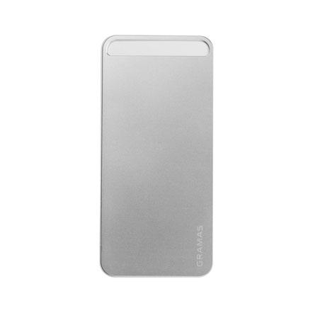 【iPhone SE/5s/5】GRAMAS パックパネル 022シリーズ(シルバー)