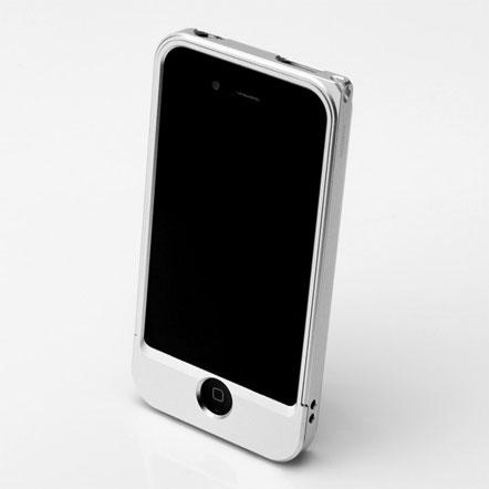 【iPhone4/4s】GRAMAS メタルバンパー 04シリーズ(シルバー)