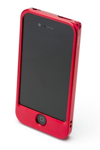 【iPhone4/4s】GRAMAS メタルバンパー 04シリーズ(レッド)