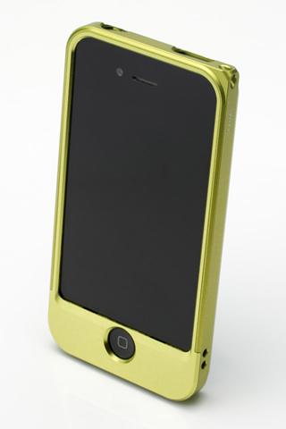 【iPhone4/4s】GRAMAS メタルバンパー 04シリーズ(グリーン)