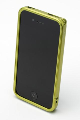 【iPhone4/4s】GRAMAS メタルバンパー 04シリーズ(グリーン)_1