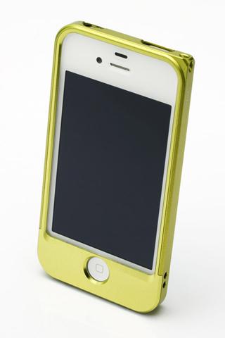 【iPhone4/4s】GRAMAS メタルバンパー 04シリーズ(グリーン)_2