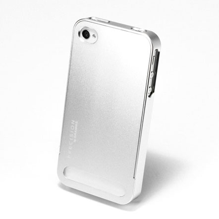 【iPhone4/4s】PRECISION Full Metal case S(銀)