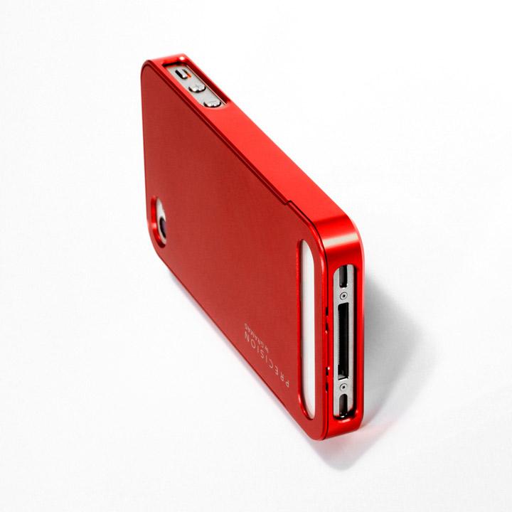 【iPhone4/4s】PRECISION Full Metal case R(赤)