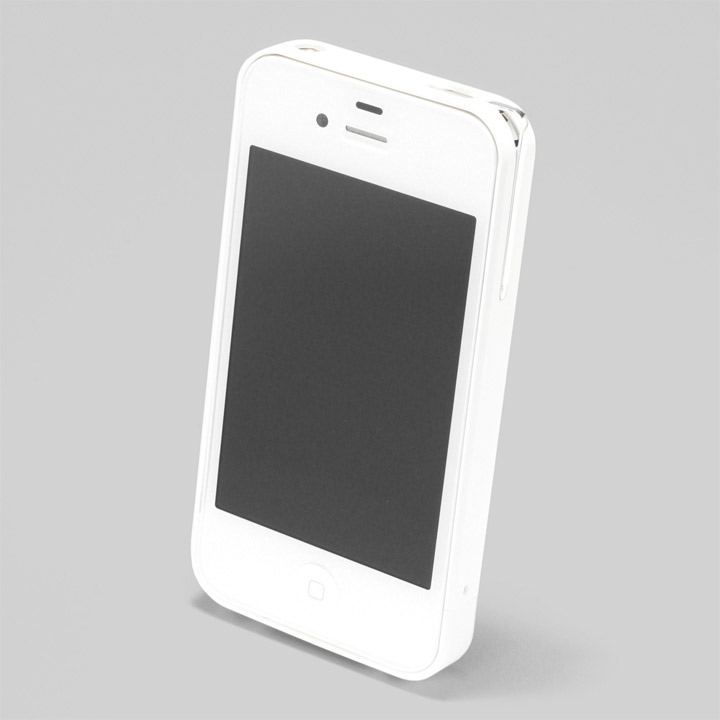 【iPhone4/4s】PRECISION Combi case W(白)_0